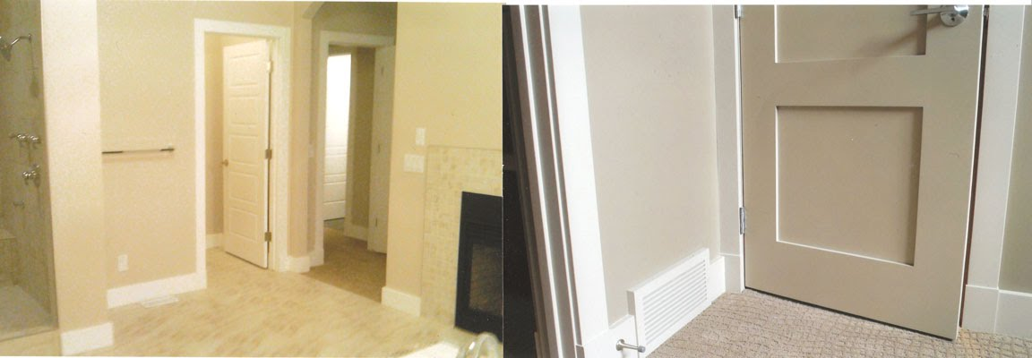 Spraying doors hand painting vs spraying our interior for Cost to paint interior doors and trim