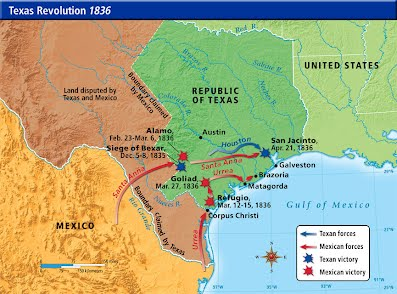 Map Of Texas Mexico.Texas Revolution Www Westward Expansion Com
