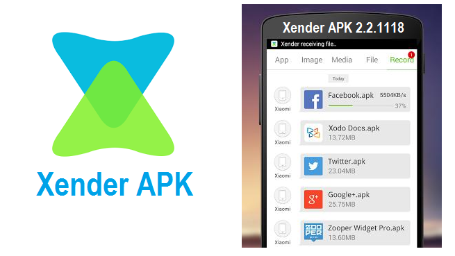 Xender - the best solution for sharing applications files among