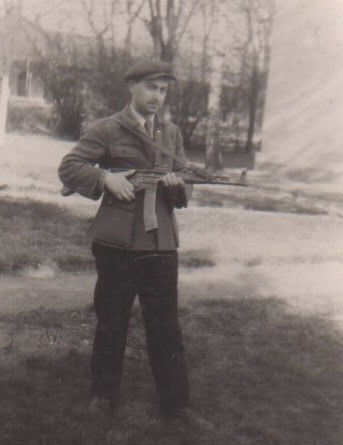 My father in the Polish militia after the war