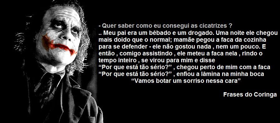 Frases Do Coringa Pensador Para Facebook: Frases Do Coringa