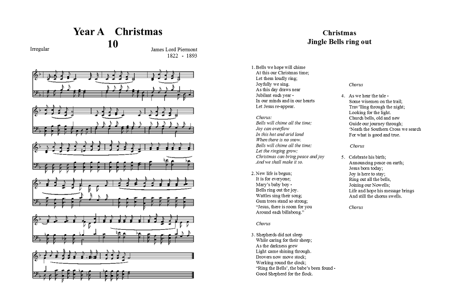 image regarding Jingle Bells Lyrics Printable referred to as Xmas - Jingle bells ring out - Yr A lectionary