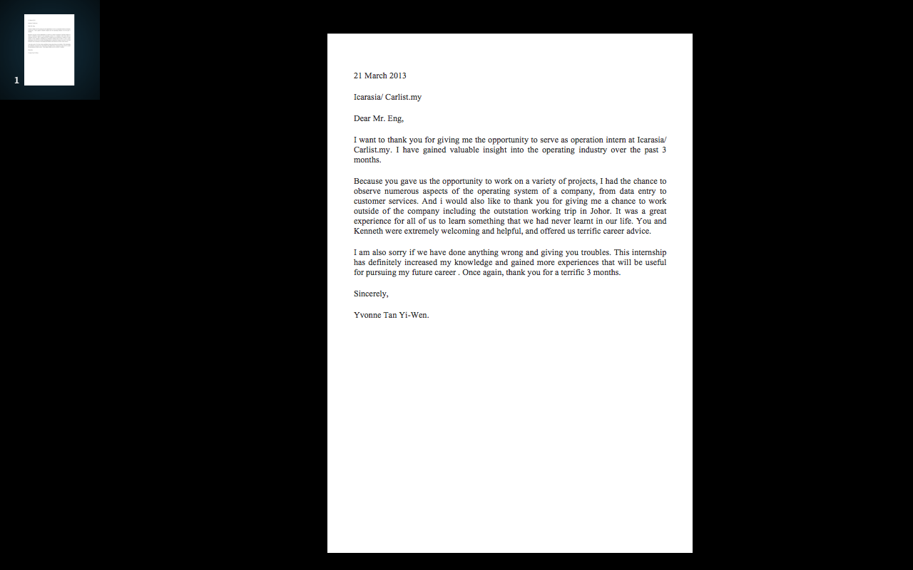 thank you letter to supervisor internship report thank you letter to supervisor