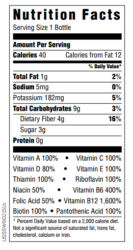 7. NUTRITION FACTS - Zeal for Life P.R.
