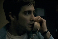 Jake as Robert Graysmith, on the phone with Paul Avery